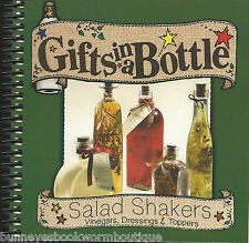 GIFTS IN A BOTTLE SALAD SHAKERS New COOKBOOK Dressing VINEGARS Recipes TOPPERS