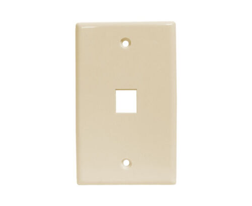 25x  1 Port Wall Plate For Ethernet Keystone Inserts ALMOND WP1-039//1P//AL