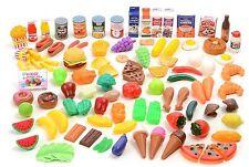Kids Play Deluxe Pretend Food Assortment Kitchen Toy Girls Boys 120 Piece Set