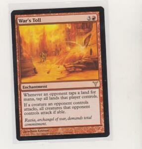WAR/'S TOLL Dissension MTG Red Enchantment RARE