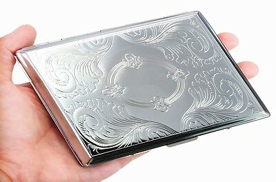 Big Kingsize CIGARETTE CASE - - - Smoker Smoking metal Tin Box gift present