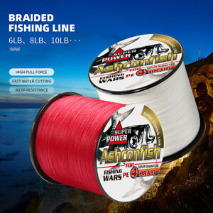 Super Power Strong Braid Fishing Line 4//8 Strands Multifilament PE braided Line