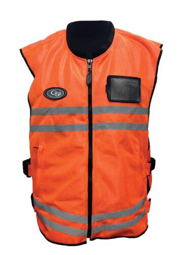 OSI Air Flow Mesh Riding Vest •Hi Viz Safety Orange • MSRP $53.99