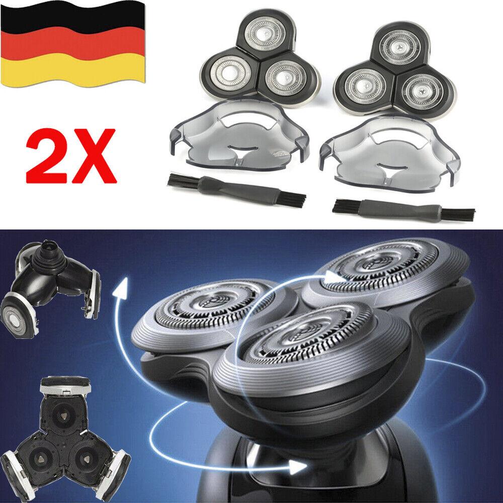 2x Ersatzscherkopf Scherkopf Rasierklingen für Philips RQ10 RQ12 RQ1280 DE