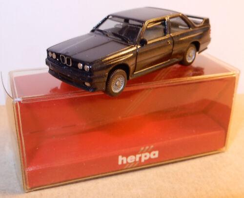 MICRO HERPA HO 1/87 BMW M3 NOIRE IN BOX (manque un phare à l'arrière)