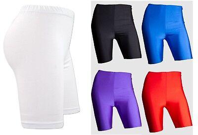 Mens Boys Super Stretch Lycra Cycling Shorts School PE Sports Gym Running Yoga