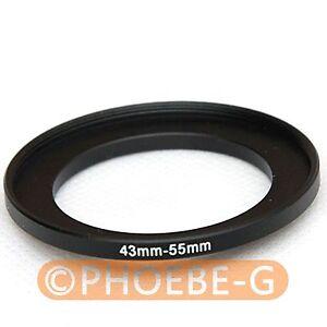 52mm 43-52 mm Adaptador filtro adaptador anillo Step-up 43mm