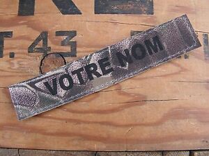 Name tape chocolate chip IRAK désert DESERT 6 COULEURS Bande patronymique .