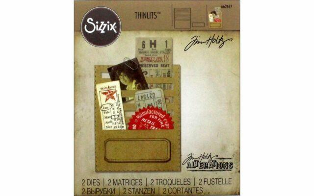 19.1 x... Metal Sizzix Thinlits Die-Stitched Slots by Tim Holtz Multicolour
