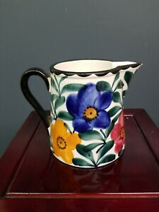 Hand-Painted-Pottery-Pitcher-SMF-Schramberg-Germany