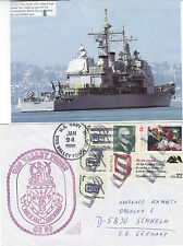 CRUISER USS VALLEY FORGE CG 50 A SHIPS CACHED COVER & A MAGAZINE PICTURE