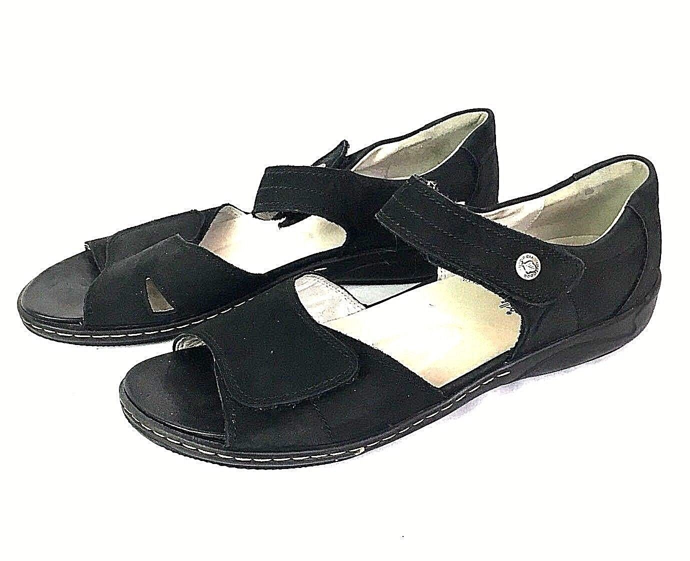 Waldlaufer Women Sandal Size 9.5 10 Hilena Black Nubuck Mary Jane Strap Hungary