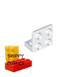 6097637-99207 Lot x2 Lego Bracket 1x2-2x2 Inverted support 90° BLANC WHITE