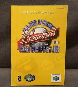 Instruction Manual Major League Baseball Featuring Ken Griffey Jr. Nintendo 64 N