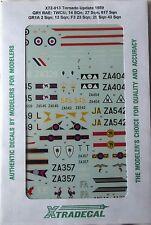 Xtradecal 1/72 X72013 RAF Tornado Update 1989 Decal set
