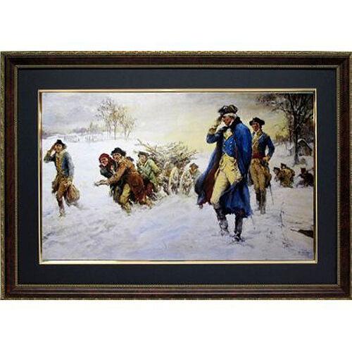 Washington At Valley Forge Print Framed Art