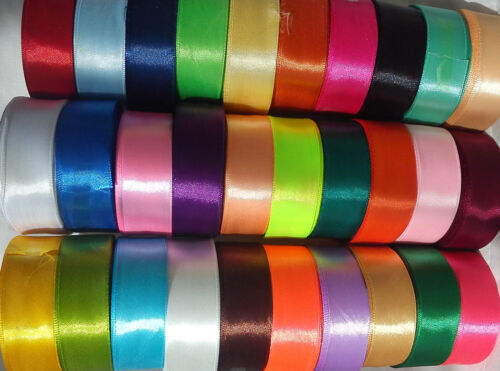 SATIN RIBBON, 30 NEW ROLLS, 30 Different Colours 25MM, 15 yrds each, Great Price
