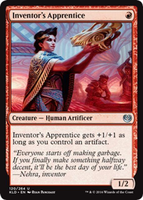 MTG Magic - (U) Kaladesh - 4x Inventor's Apprentice x4 - NM/M