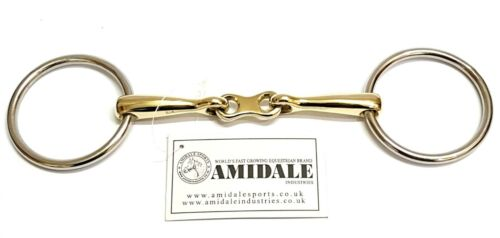 AMIDALE LOOSE RING FRENCH LINK SNAFFLE BIT S//S GERMAN SILVER FLAT LINK BNWT