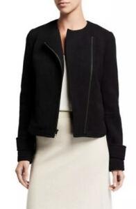 VINCE-Black-Zip-Cross-Front-Jacket-Blazer-Women-s-Size-10-NWT