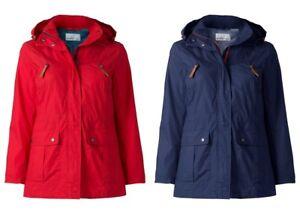 Details mit zu NEU Kapuze Blau Herbst Warm Sheego Blue Mantel Damen Parka Red Rot Jacke b7fgy6
