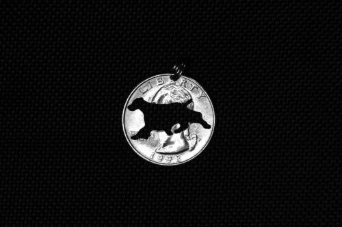 English Springer Spaniel coin pendant
