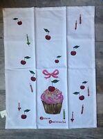 Anthropologie Tea Towel Happy Birthday Joyeux Anniversaire