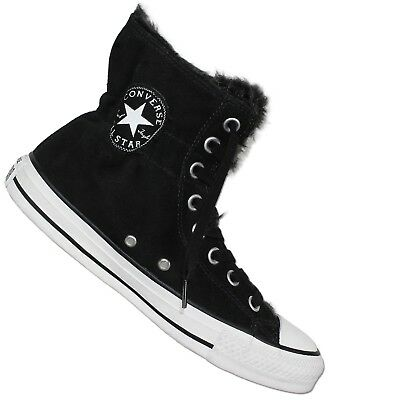 Details about Converse All Star Chuck Taylor CT CLR SCRUNCH HI Black Winter Shoes Lined show original title