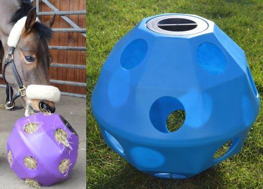 azul equino caballo o pony Heno Alimentador de bola 75mm tratar   multi-compra descuento