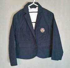 Abercrombie & Fitch Kids Boys Navy Blue Blazer Jacket Medium Sz 5 Crest Dress Up