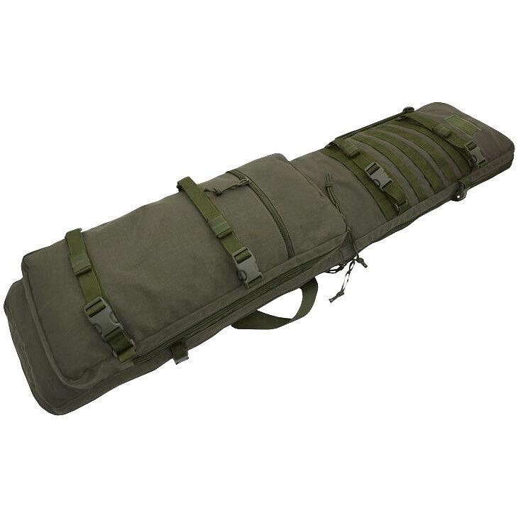 Wisport 100Cm Cubierta Rifle Militar Tiro Pistola Caso Monótono verde RAL 7013