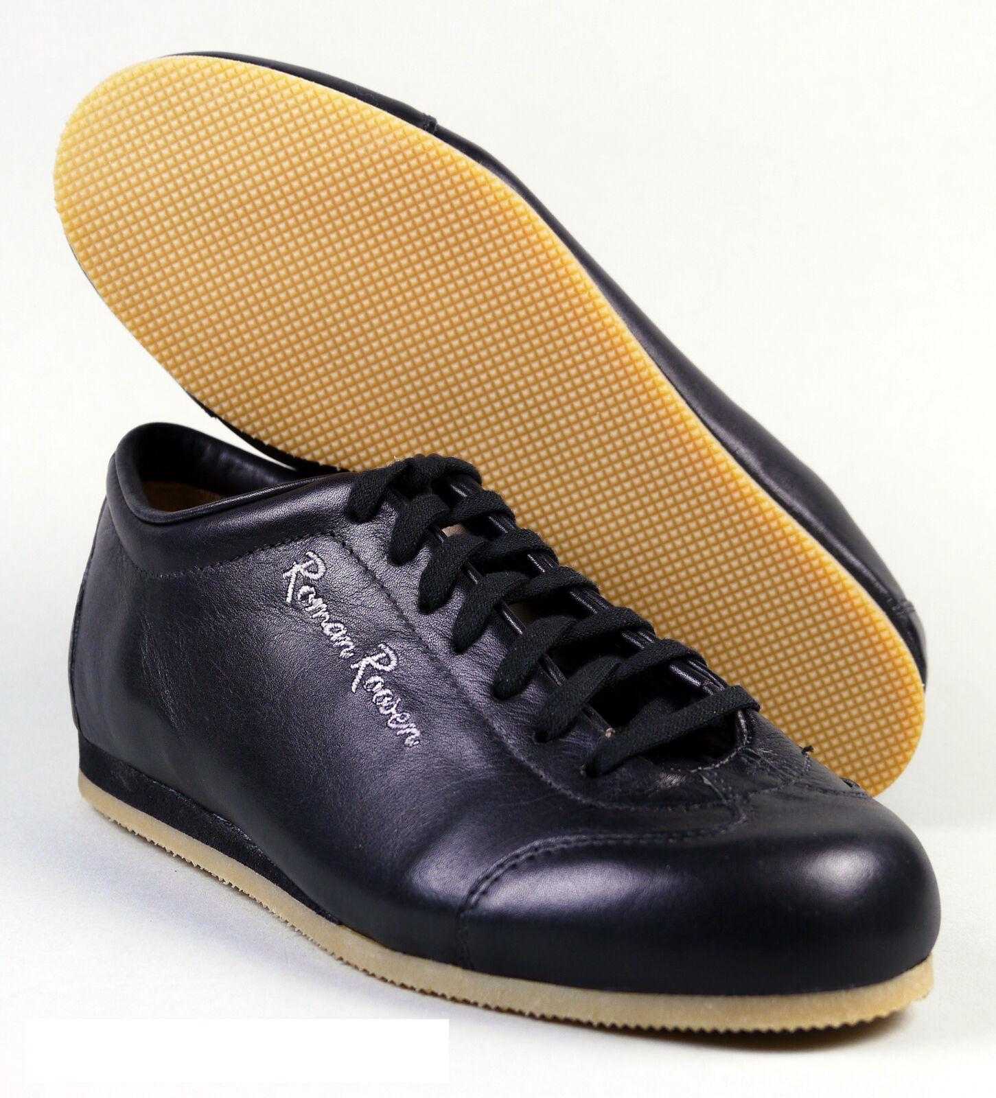 Roman Roosen / Sneaker cognac / schwarz / Roosen weiß Echtleder Gr. 37 - 43 1/2 NEU OVP ff57d1