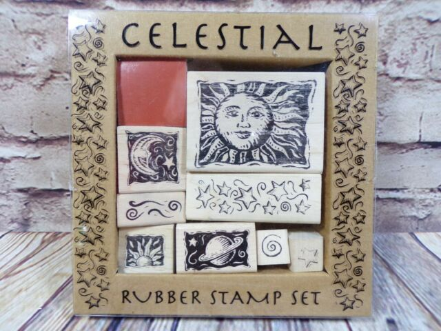 rubber stamp many stars in the sky