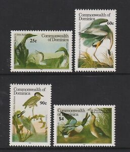Dominica - 1986, J Audubon, Birds set - MNH - SG 1013/16