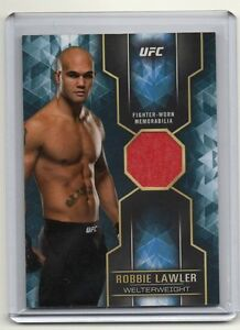 2017 Topps UFC Knockout Robbie Lawler Fighter Worn Shirt Relic Blue 21/25
