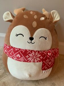 Squishmallows 2020 Christmas 12 Dawn The Fawn With Red Scarf Plush Rare Ebay Shop our ivy the deer jumbo squishmallow. ebay