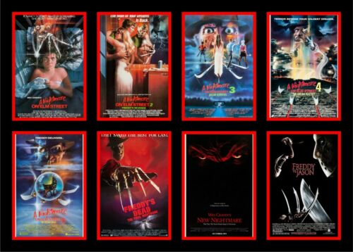 Details about  /8 x Movie Poster Complete Collection A Nightmare on Elm Street Freddy Krueger