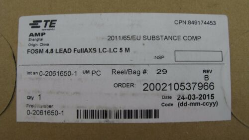 TE FOSM LEAD 4.8mm FULLAXS LC-LC//DPX 5m FIBER OPTIC 2061432-5 TE CONNECTIVITY
