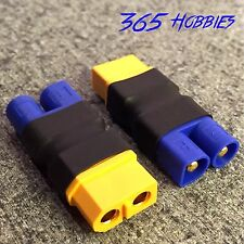 QTY-(2)  Male EC3 Losi to Female XT-60 Connector Adapter XT60 LiPO Battery Tacon