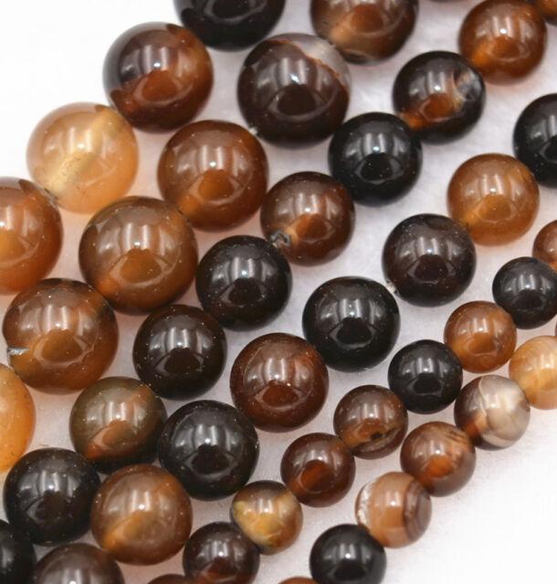"6/8/10mm Dream Agate 6-10MM Beads Full Strand Semi-precious Natural Stones 15"""