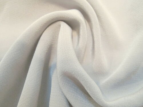 Gorgeous DESIGNER BEIGY SILVER-GRAY Low Sheen SUEDED SATIN Backed CREPE Fabric