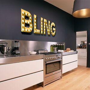 Bling Luz Iluminado efecto Letras Pared Adhesivo Calcomanía Arte Dormitorio Salón  </span>