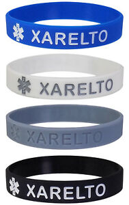 XARELTO-Medical-Alert-ID-Silicone-Bracelets-Adult-Size-4-Pack