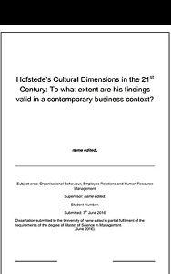 Dissertation International Management - 14 Interesting