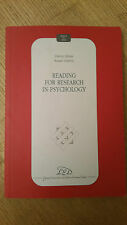 Glenn Alessi - Susan Garton - Reading for Research in Psichology - Ed. LEL 2007