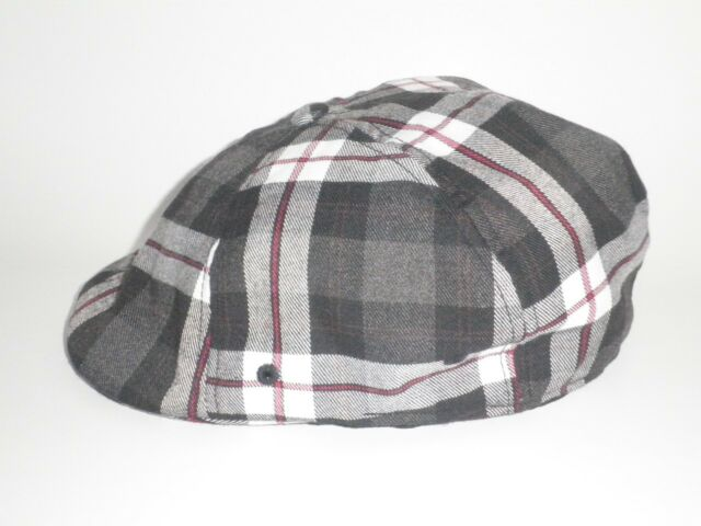 Red White Plaid Ivy Driving Newsboy Cap Hat