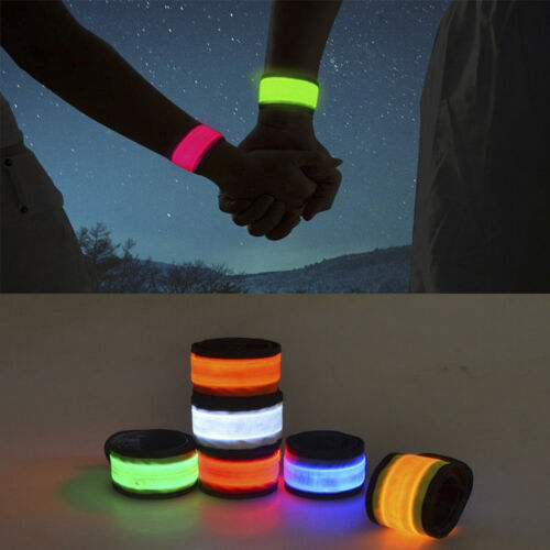 Reflective Safety LED Light Arm Armband Strap Belt For Night Cycling Running
