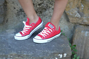 Converse-All-Star-M9696-Rosse-Red-Basse-low-uomo-donna-unisex-Classic