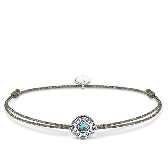 Genuine Thomas Sabo Little Secrets Khaki Turquoise Ethno Amulet Bracelet LS022