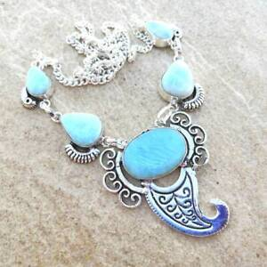 Handmade-Caribe-Larimar-Pectolite-Plata-de-Ley-925-21-034-Collar-N01786